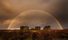 Rainbow over the Three Ships (awhyu) Tags: park photography three rainbow district derbyshire ships peak andrew national edge yu gritstone birchen