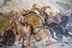 Alexander Mosaic, detail with Darius III's Chariot