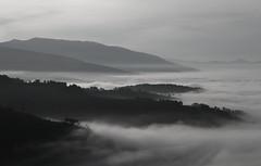 L'abbraccio della nebbia (da.geli) Tags: bw mountain fog hills mygearandme mygearandmepremium mygearandmebronze labbracciodellanebbia theembraceofthefog