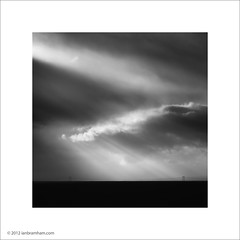 Rays of Light (Ian Bramham) Tags: light white black landscape coast photo iceland rays plain ianbramham