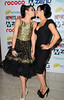 Alison King and Kym Marsh kissing Hearts and Minds Charity Ball, held at the Hilton Hotel Manchester