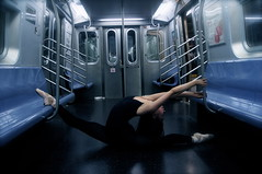 Mysterious Shapes (maggieyhorowitz) Tags: ballet feet hair subway dance ballerina arms legs dancer pointe split pointeshoes jko danceproject oversplit dancingcreatures maggiehorowitz followontumblrdancingcreatures