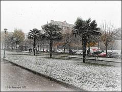 Los primeros copos del Otoo  (Burgos) (Lumiago) Tags: espaa naturaleza spain nevada burgos castillaylen mygearandme