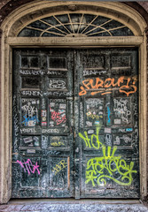 "Graffitied Door • <a style=""font-size:0.8em;"" href=""http://www.flickr.com/photos/85864407@N08/8230379099/"" target=""_blank"">View on Flickr</a>"