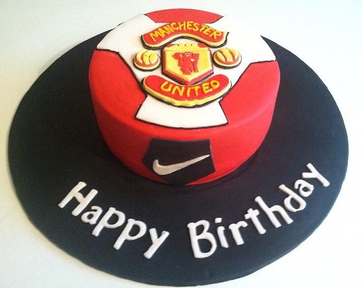 Manchester United Shirt Cake Topper
