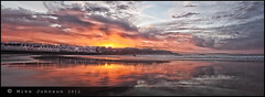 West Bay Panorama (North Coast Photographic) Tags: autumn ireland sunset sea sky panorama seascape color colour reflection beach water clouds photoshop outdoors coast interestingness google sand exposure earth pano horizon atlantic explore adobe northernireland pan northern causeway gettyimages 2012 nationalgeographic ulster portrush antrim causewaycoast greatphotographers 450d canon450d scenicsnotjustlandscapes cloudsstormssunsetssunrises irelandnorthernsummericecreampinkhdrcanonspatialpanphotomatix spatialpan northcoastphotographic