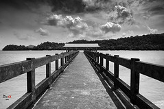 destiny (dandooon2010) Tags: bridge sea white black clouds island sony malaysia langkawi alpha  a55