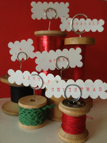 Place-marker cotton reels