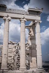 greek pillars on the acropolis (RGL_Photography) Tags: temple ruins athens greece pillars acropolis ancientgreece greektemple ancientarchitecture acropolisofathens
