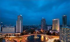 The Eye (ftan99) Tags: blue digital indonesia landscape hotel nikon cityscape jakarta hour hi hdr blending bundaran d700