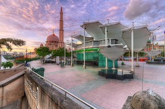 Putrajaya Mosque - The Forecourt (Arief Rasa) Tags: sunset building mosque structure putrajaya hdr masjid nationalgeographic putrajayamosque mesjid ariefrasa
