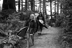 9521.2 Surf Couple B&W (eyepiphany) Tags: beach oregon manzanita blackandwhitephotography oldgrowth smugglerscove oswaldstatepark oregonbeaches manzanitaoregon shortsandsbeach summerlife shortsandbeach surfculture surfingcouple twilightsurfers oregontourism surfingspot littlesurfergirl surftribe tappingthesource bestplacestosurf bestplacestosurfinoregon oregonbeachtowns hotsurfingspots afteradayofsurf surfertrail
