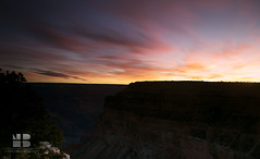 Breaking dawn at Grand Canyon (Nabanita Banerjee) Tags: morning pink blue arizona tree nature sunrise landscape gold dawn nationalpark l