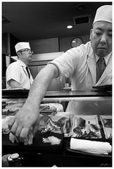 Sushi goodness (280516) (n._y_c) Tags: xt1 xseries x fuji fujifim blackandwhite sushi tokyo tsukiji fish fishmarket xf1855 xf