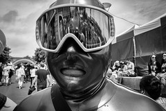 The Gimp (Shot In The Street) Tags: streetphotography mono portrait monochrome lgbt candid bw street bristol gimp blackandwhite white black mask pride2016