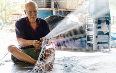 It's raining day, repair net better (Marcus Lim @ WK) Tags: portrait people net nikon tamron fishingvillage tamron1750