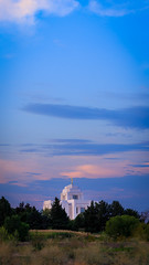 Meridian LDS Temple 1 (Matt Barlow Photography) Tags: temple boise meridian mormon lds thechurchofjesuschristoflatterdaysaints moroni angel sunset light