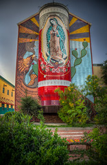 The Virgin of Guadalupe Mosaic Candle (donnieking1811) Tags: texas san antonio catholic mary guadalupe colorful canon 60d art architecture