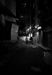 """""""i'm coming home"""" (i) (hugo poon - one day in my life) Tags: xpro2 23mmf2 hongkong northpoint heiwostreet citynight dark home solitude vanishing goodnight longnight"""