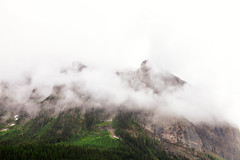 Over the Peak (michaelnugent) Tags: canon eos 5d mark ii ef 24 105 mm l lens lake louise banff alberta explore travel canada canadian rocky mountains over peak clouds overcast green trees portrait landscape scenery
