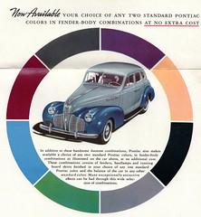 1940 Pontiac Fender-Body Two-Tones (aldenjewell) Tags: 1940 pontiac four door touring sedan brochure fender body two tones de luxe eight