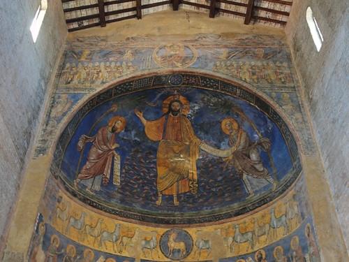 Tivoli, chiesa di San Silvestro, particolare dell'abside
