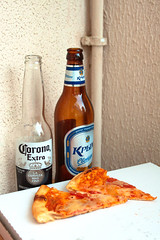 Morning (r_a_d_i_c_h) Tags: russia russian beer   crimea corona coronaextra pizza  bottles bottle  morning