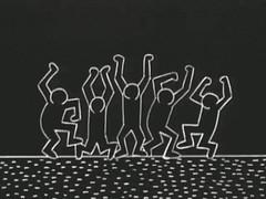 Breakdancers by Keith Haring for Sesame Street (Tom Simpson) Tags: sesamestreet keithharing gif vintage television cartoons animation breakdancer dancer dancing