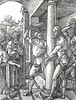 Phillip Medhurst presents John's Gospel: Bowyer Bible print 5575 Jesus is scourged John 19:1 Durer (Phillip Medhurst) Tags: john johnsgospel gospelaccordingtojohn gospel jesus christ jesuschrist bowyerbible bible bibleillustration durer scourge flog whip passionofchrist pilate