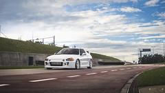 Honda CRX Mugen (K J | P h o t o) Tags: honda crx mugen jdm low static blue sky sunset nikon d3300