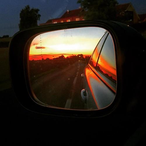 På väg hem.