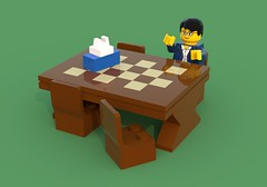 Table ([ dA ]) Tags: lego ldd bluerender table legocity    furniture