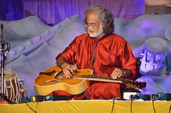 MATHURA: Grammy award winner Pt. Vishwa Mohan Bhatt perform during Swami Haridas Sangeet Evam Nritya Mahotsav in Vrindavan on Thursday Night. (legend_news) Tags: mathura up india grammy award winner pt vishwa mohan bhatt perform during swami haridas sangeet evam nritya mahotsav vrindavan thursday night