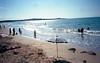 Sea Nun (Minchioletta) Tags: olympusxa fujic200 analogicait lomographyandvintagecameras c41 nun suora beachumbrella ombrellone spiaggia beach mare sea sky cielo sand sabbia