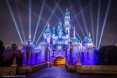 Sleeping Beauty Castle After Fireworks (Samantha Decker) Tags: anaheim ca california canonef1635mmf28liiusm canoneos6d disneyland samanthadecker sleepingbeautycastle socal socal16 themepark