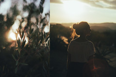 329/365 Impressions d't. (Alexandra Bloch) Tags: summer light color diptych photos 365 leaves leaf sun sunset art portrait green yellow orange red bokeh flare blur night day lights ray nature sicily travel