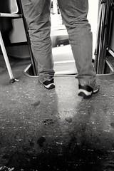 going down (Fer Gonzalez 2.8) Tags: leica leicadlux4 blackwhite bus legs citylife