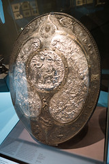 Elaborately embossed shield (quinet) Tags: 1867 2014 allemagne birmingham deutschland elkingtonco germannationalmuseum germanischesnationalmuseum germany nuremburg nrnberg schirm bouclier shield