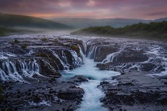 Thousand waters (Blai Figueras) Tags: islandia sky panorama montaas cascada agua water mountains river field horizon landscape sunset atardecer atmosphere fall longexposure stones le paraiso rocas eden paisaje flickr fog waterfall iceland cielo clouds rocks silkeffect
