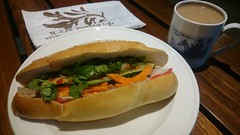 Banh mi Vietnamese roll AUD7 - N.Lee Bakery, Collins Street, Melbourne (avlxyz) Tags: banhmithit banhmi tea afternoontea sandwich
