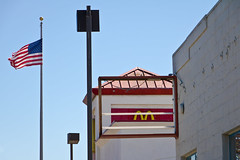 McFlag (Ron Rothbart) Tags: americanflag california elcerrito jeffbrouws mcdonalds flag sign