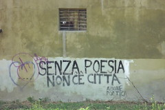 No poetry no city. Poetical action. (bulgit) Tags: poetry graffiti parma