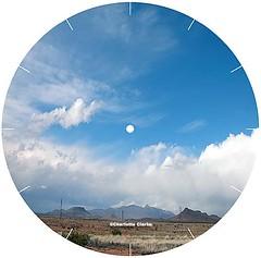 CD disk Clock face - desert clouds (Charlotte Clarke Geier) Tags: computer print crafts digitalart computercrafts
