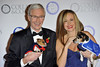 Paul O'Grady and Amanda Holden, Battersea Dogs & Cats Home's Collars & Coats Gala Ball 2012 held at the Battersea Evolution - Arrivals. London, England