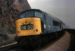45018 at Teignmouth (robmcrorie) Tags: peak class 45 1977 teignmouth 45018