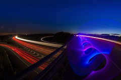 315/366 (680) (Explored) (mwhcvt) Tags: uk longexposure lightpainting colour cars tourism night speed canon painting fun lights movement long exposure neon nightlights power traffic motorway action unitedkingdom stripes trails fast junction potd trail nighttime nightime freeway dna helix lighttrails colourful dslr warwick challenge warwickshire doublehelix neons m40 stargazing lightstreaks traffictrails lighttrail gaydon lightstream lightmagic flashinglights traffictrail trafficstreaks hancox creativeexposure canon450d trafficstream mwhcvt matthewhancox warwickshiretourism