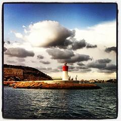 faro de navidad (ascua de luz) Tags: espaa lighthouse clouds faro spain nubes cartagena hdr instagram flickrandroidapp:filter=none