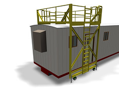 Mobile trailer Rooftop Platform