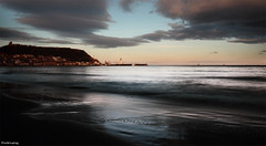 Sea change (Anthony Goodall) Tags: longexposure light sea lighthouse seascape castle beach water clouds landscape seaside sand waves sailing harbour tripod ferriswheel scarborough oldtown funpark ndfilter canon1855mm canoneos550d mygearandme