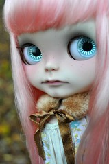 A Cute Dollie to start the Day off right! (Lawdeda ) Tags: pink people fall girl fur vinter day factory dress boots adorable blythe collar custom rement mori hairs arden sweetums rbl toletole atomicblythe punkaholic